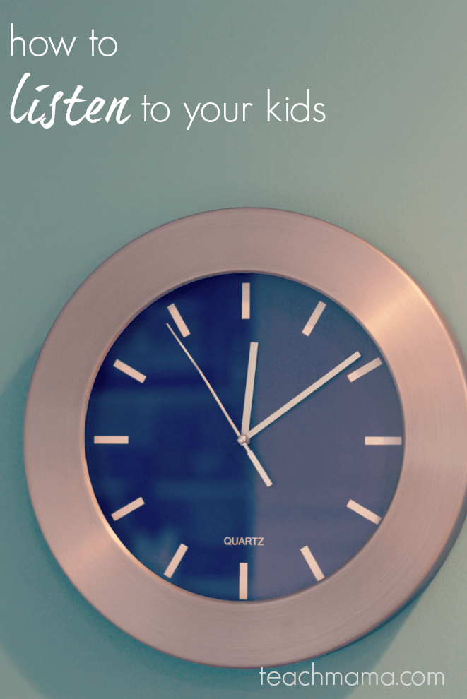 how to listen to your kids: wait time | teachmama.com