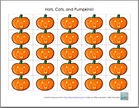 we're counting--hats, cats, and pumpkins: halloween grid games