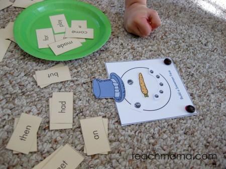 read a word, build a snowman   early literacy game   sight words   teachmama.com