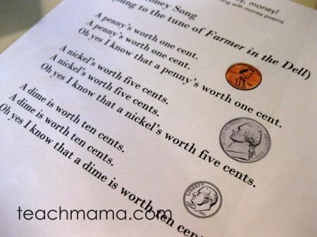 money poems, money poems teachmama.com