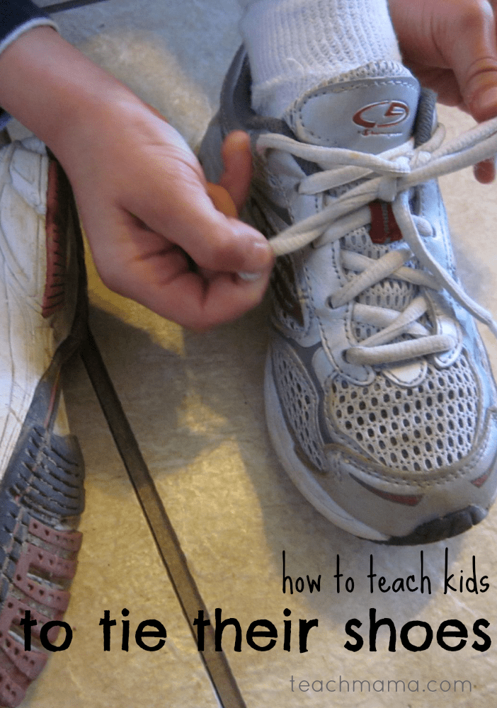 how to teach kids to tie their shoes