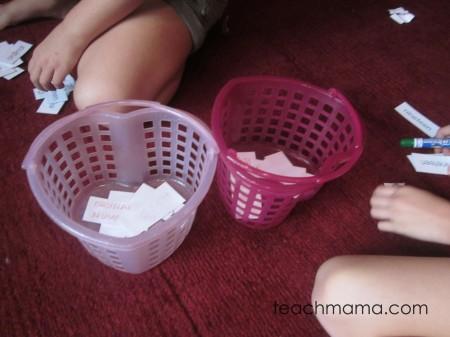 spelling word fun basket words