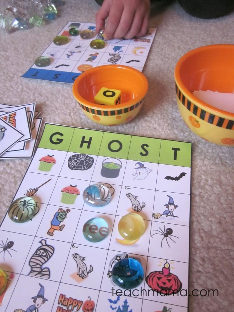 halloween bingo | GHOST bingo | teachmama.com