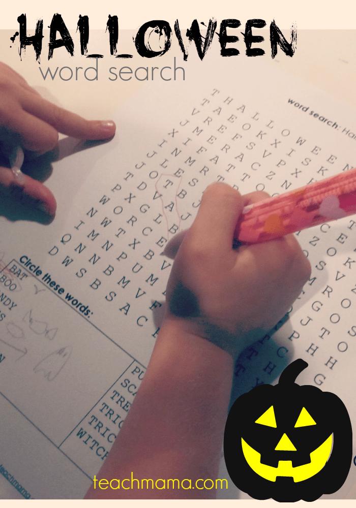 halloween word search  teachmama.com