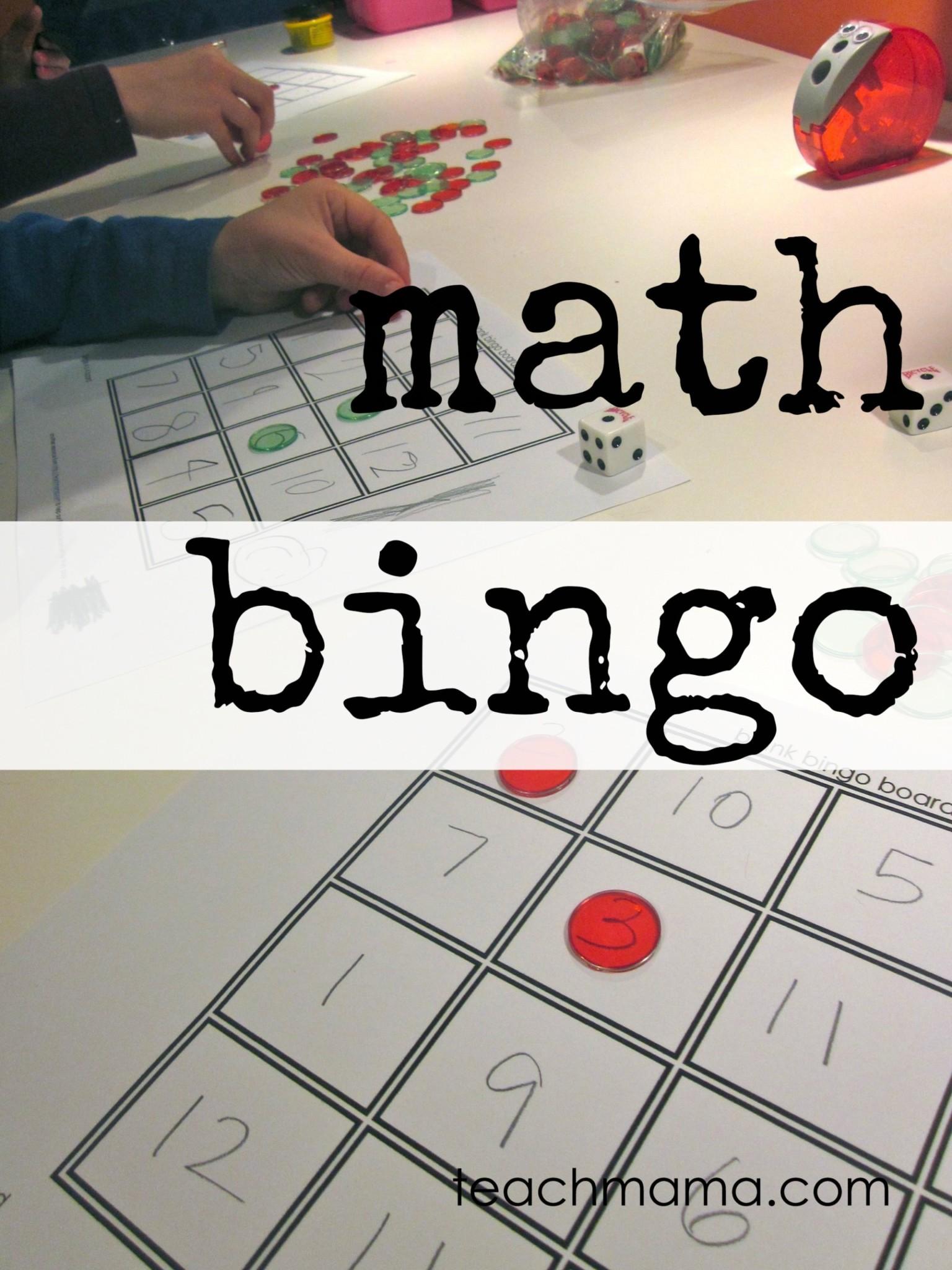 math bingo fun ways