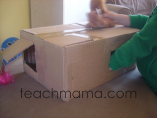 making the most of holiday clean-up, sensory box