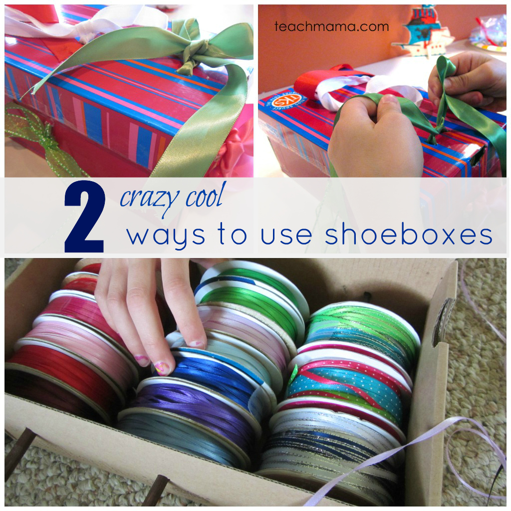 two ways to use shoeboxes