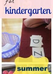 how to prepare your child for kindergarten -- summertime prep