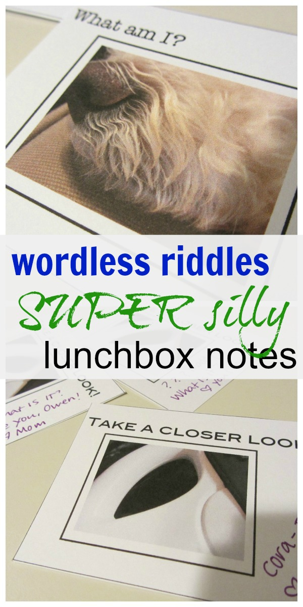 wordless riddles: silly lunchbox notes