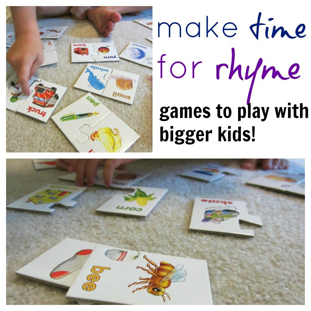Make Time To Rhyme Rhyme Games For Bigger Kids