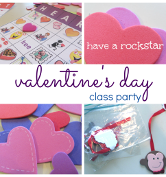 how to throw a rockstar valentine's day class party [ 1024 x 1024 Pixel ]