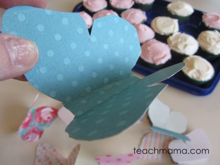 butterfly birthday cupcakes - folds