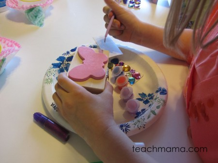 butterfly birthday bash - painting