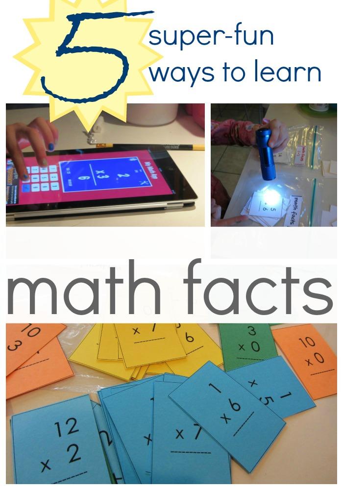 fun ways to practice math facts