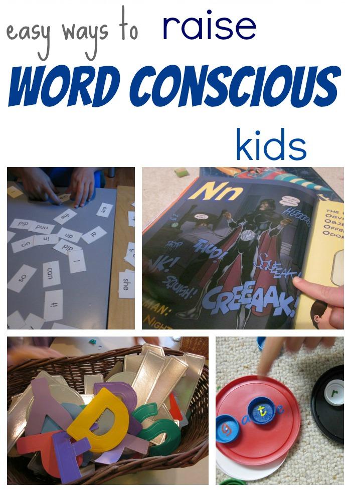 word conscious kids