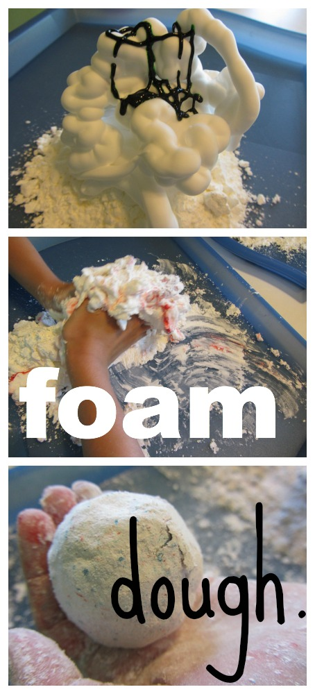 homemade foam dough