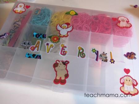rainbow loom avery's box