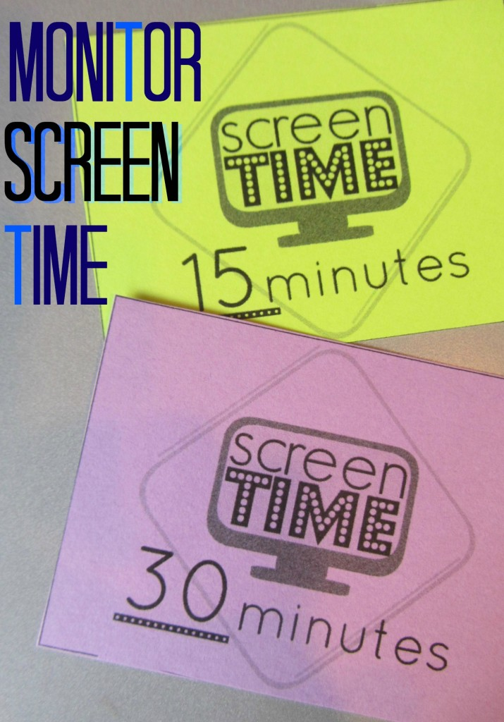 screen time cards