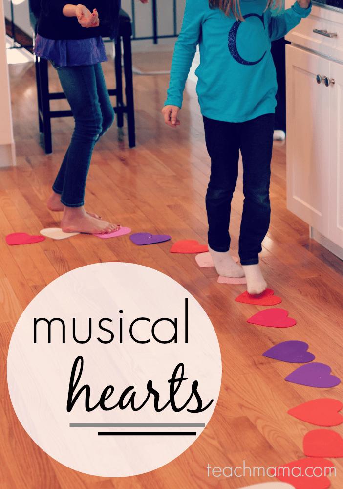 musical hearts reading, moving, & crazy-fun kid game teachmama.com