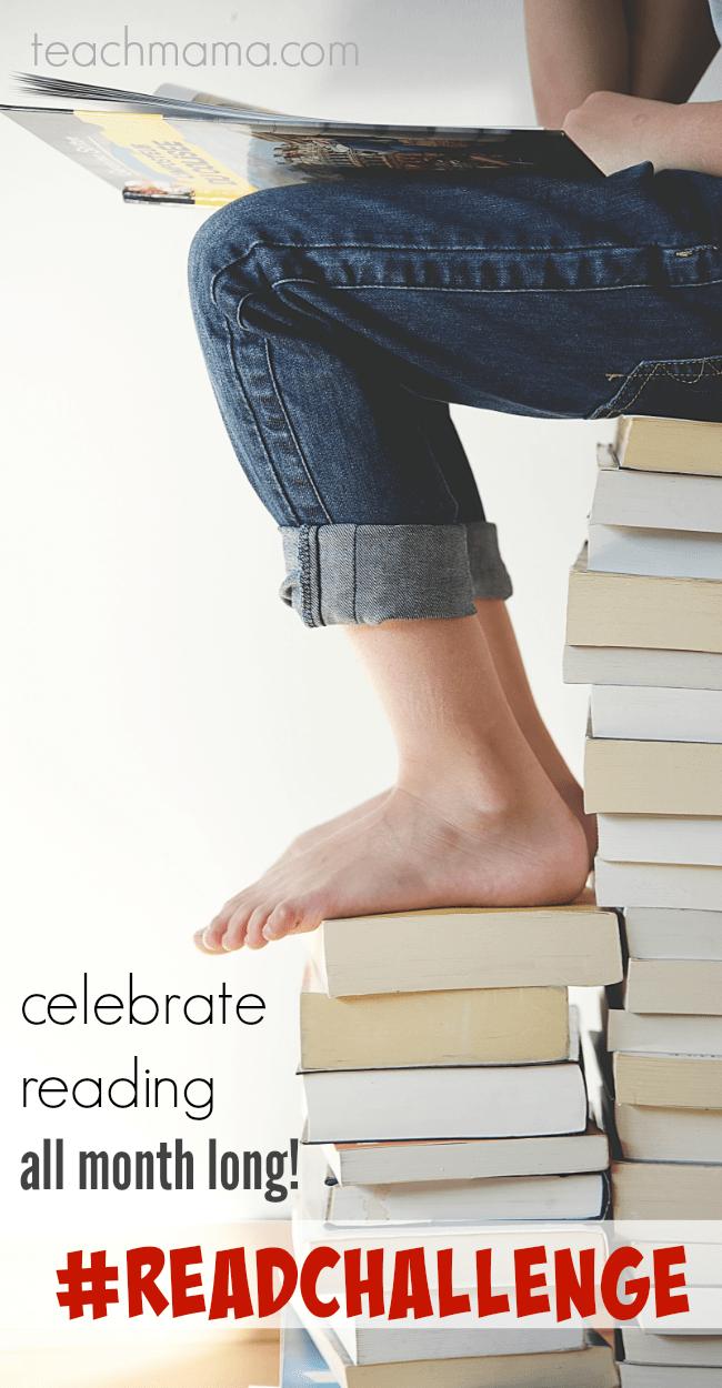 #readchallenge celebrate reading all month long teachmama.com