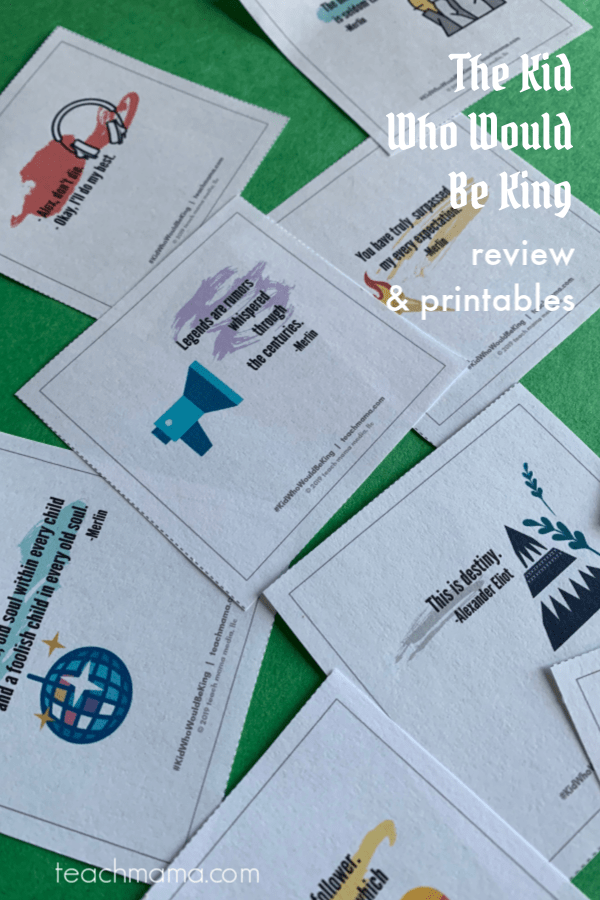kid who would be king review and printables