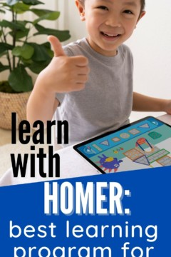 little boy giving thumbs up with HOMER on ipad screen