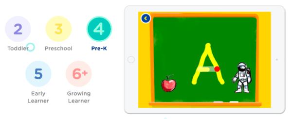 HOMER screenshot for pre-K learning
