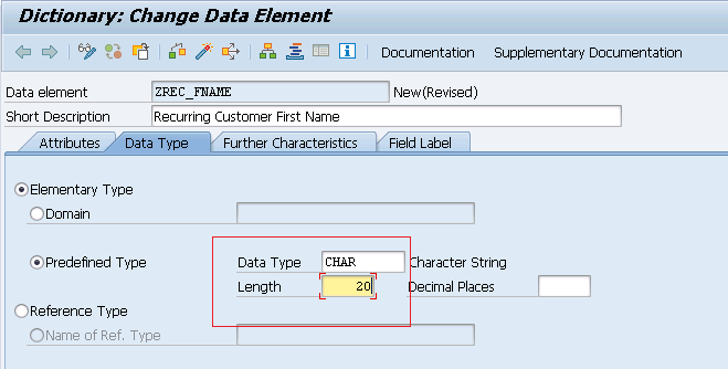 DATA ELEMENTS SAP ABAP