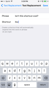 Create typing shortcuts on your iPhone, iPad, or iPod Touch