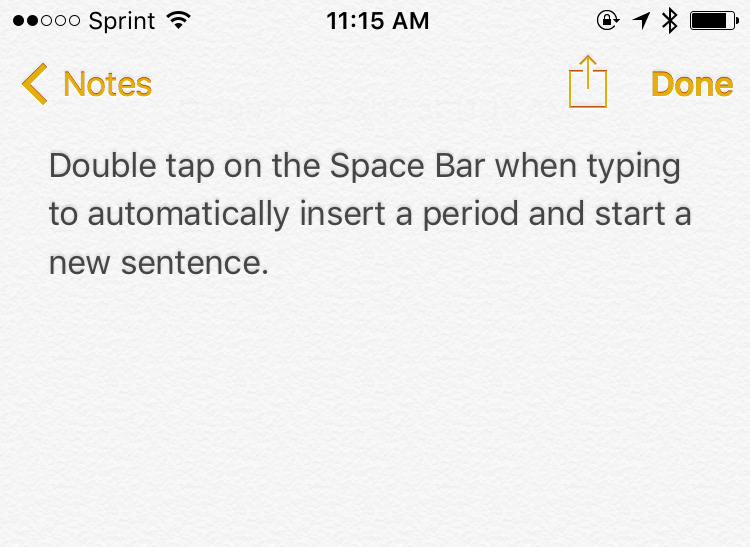 Quick Tip: Shortcut to add a period and start a new sentence on your iPhone, iPad, or iPod Touch