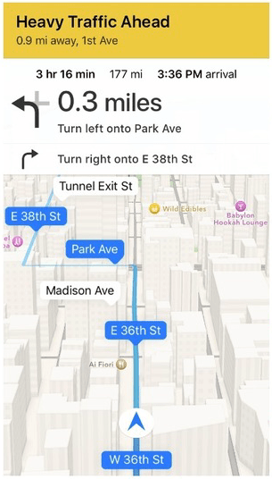 how to get directions on apple maps