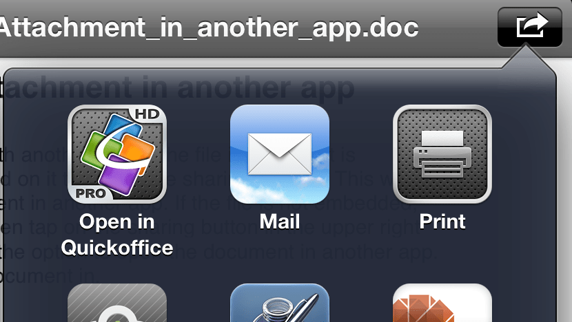 Quick Tip: How to open an email attachment (like an MS Word Doc) in another app