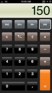 Quick Tip: Swipe to delete digits in Calculator app on iPhone or iPod Touch