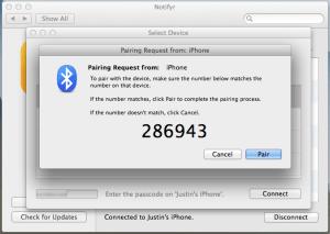 3. Bluetooth Pairing Request