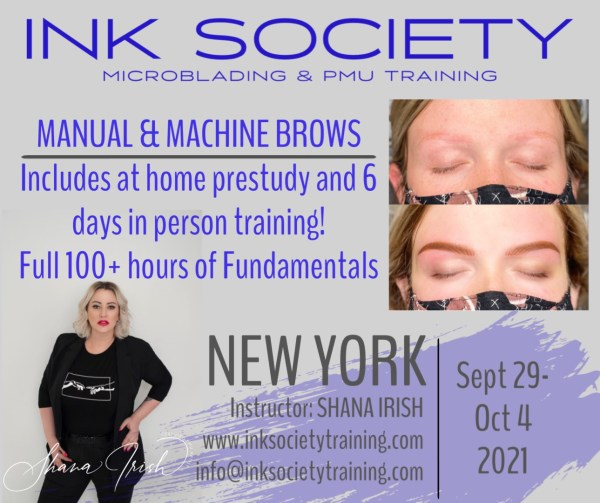 Ink Society Brow Fdamentlas with Shana Irish in NYC