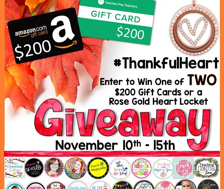Don't Miss This! Thankful Heart Giveaway