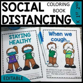Image for social distancing color book