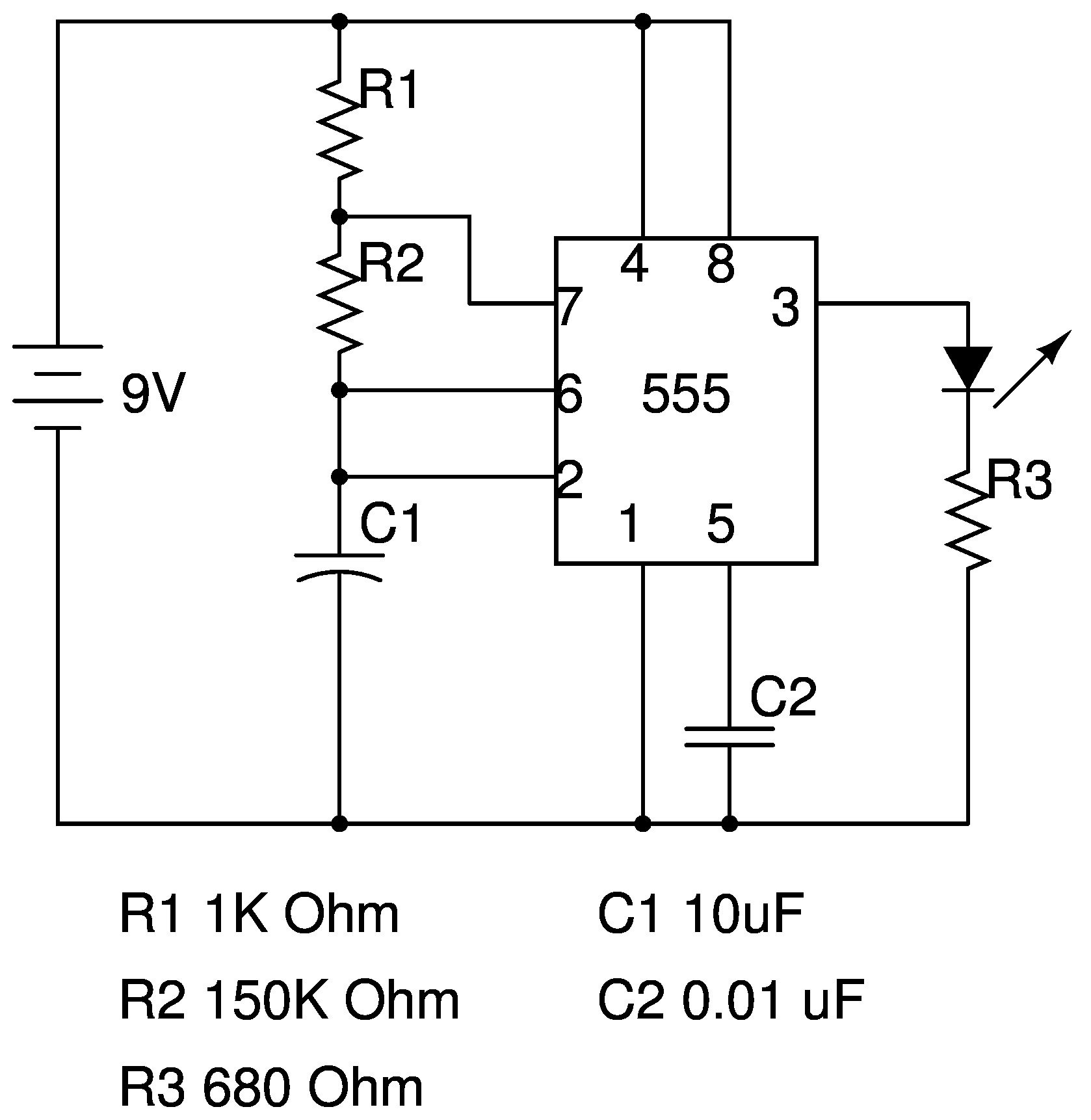 Basic Electronics Circuit Diagram