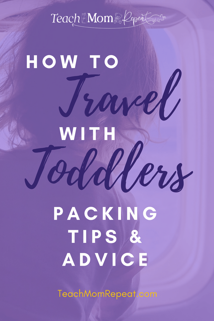 How to travel with toddlers. Packing tips and advice to make travel day easier.