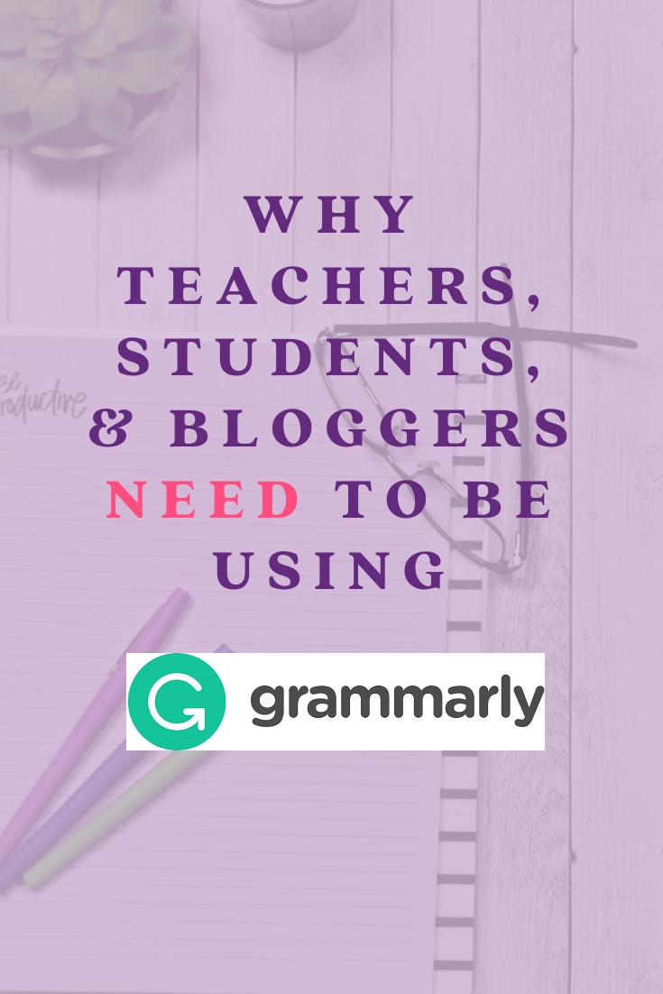 Teachers, students and bloggers should be using the Grammarly chrome extension. Help your students learn their most common mistakes quicker. Double check your own writing so your audience is not distracted by grammatical mistakes.
