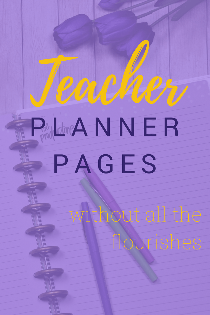 Minimalist Teacher Planner Pages