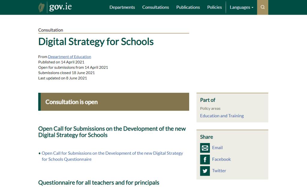 gov.ie screenshot