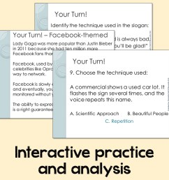 Persuasive Techniques and Media Literacy - by Nouvelle ELA [ 960 x 960 Pixel ]