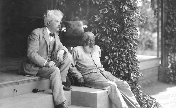 Twain and John T. Lewis photo