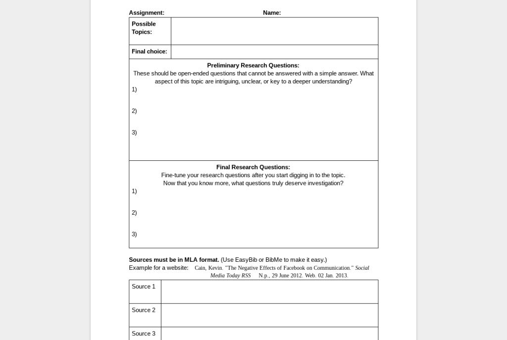 Huckleberry Finn pre-reading activities template