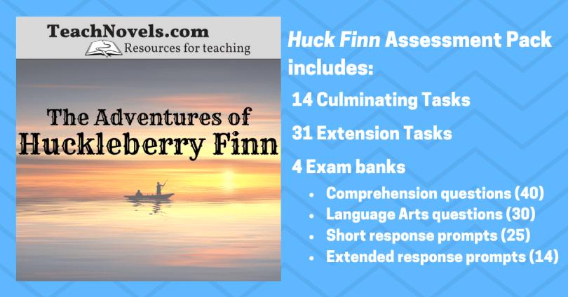 Huckleberry Finn assessment ideas exam banks