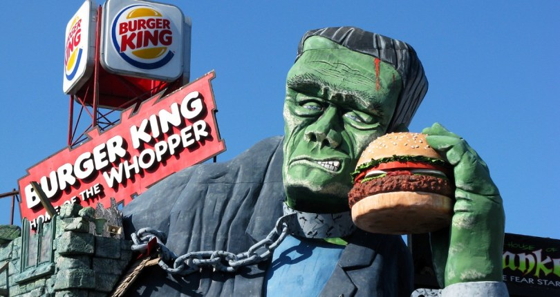 Frankenstein Statue at Burger King - Edited