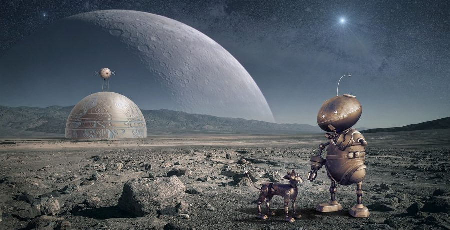 Science fiction robot fun