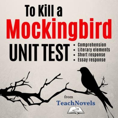 To Kill a Mockingbird Unit Exam PDF cover