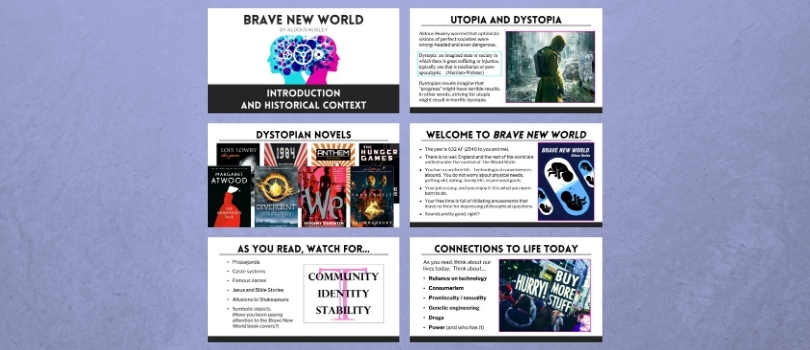 Brave New World Introduction Powerpoint Slides